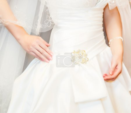 Photo for Beautiful wedding dress. Close-up - Royalty Free Image