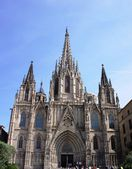 Barcelona Cathedral of Santa Eulalia in Barrio Gotico - old part of town