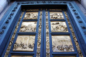 Gates of Paradise with Bible stories on door panels of Duomo Bap