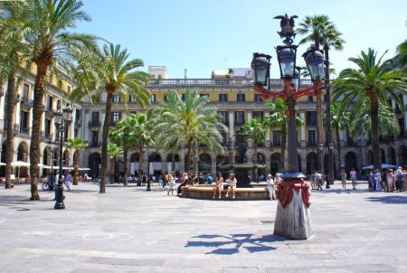 Photo for Plaza Real is a square in the Gothic Quarter in Barcelona, Spain - Royalty Free Image
