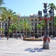 Plaza Real is a square in the Gothic Quarter in Ba...