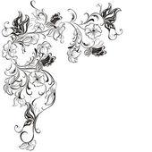 Decorative floral frame, element for design, vector