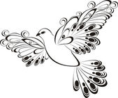 Flying dove. Symbol of peace and unity