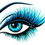 Beautiful female blue eye...