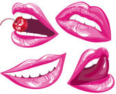 Lips set - Vector Illustration