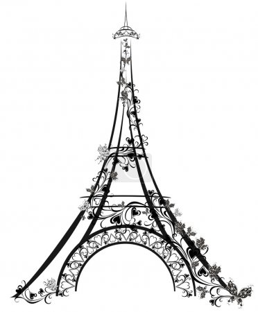 Illustration for Eiffel Tower, Paris, France - Royalty Free Image