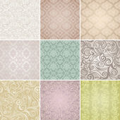 Collection Seamless floral pattern Vintage background