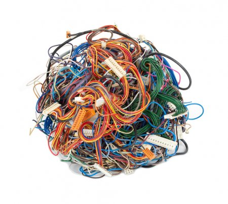 Photo for Tangle of wires - Royalty Free Image