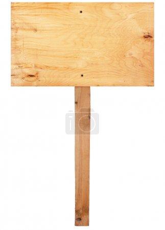 Photo pour Panneau en bois - image libre de droit