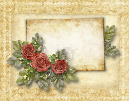 Framework for a photo and congratulation. Abstract background.