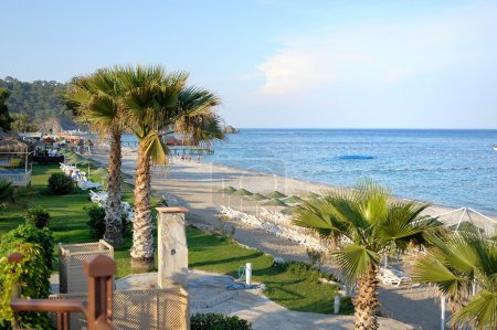 Photo for Turkish resort view with beautiful blue sea - Royalty Free Image