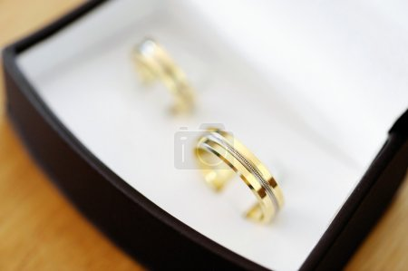 Two gold wedding rings