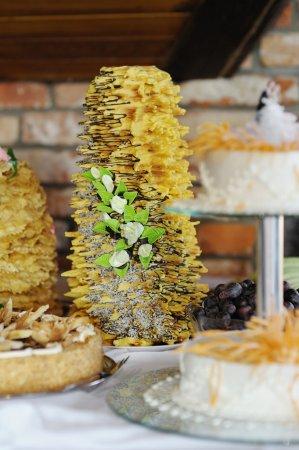 Photo pour Traditionnel gâteau de mariage lituanien (sakotis) - image libre de droit