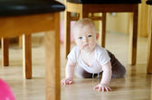 Adorable crawling baby girl