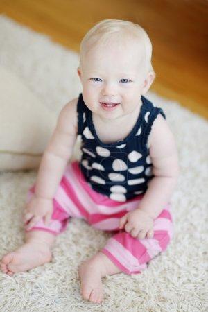 Adorable baby girl portrait