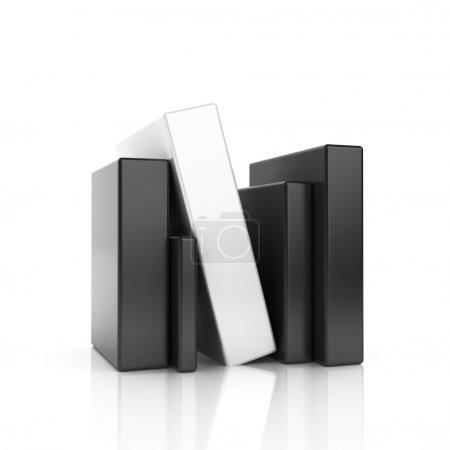 Symbole d'entreprise noir abstrait avec barres