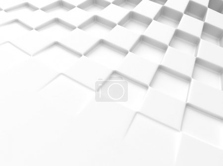 Photo for Elegant white background with chess pattern and space for text - Royalty Free Image