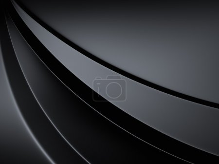 Photo for Elegant black metallic background with three curved lines - Royalty Free Image