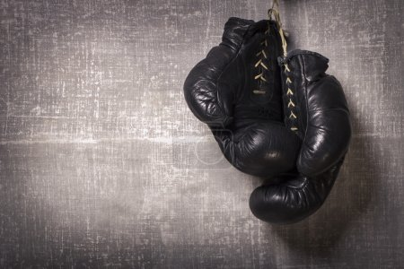 Photo for Boxing Gloves on gray background - Royalty Free Image