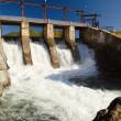 View at hydroelectric power plant on Altai river C...