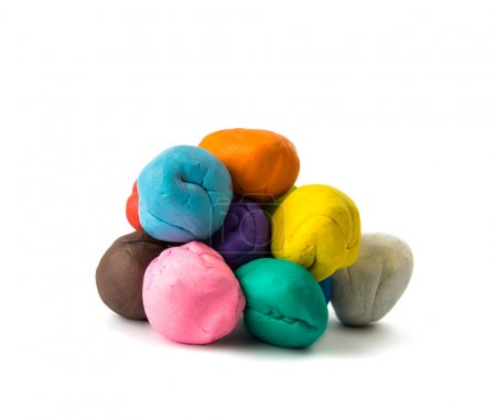a modelling clay ball of different colors