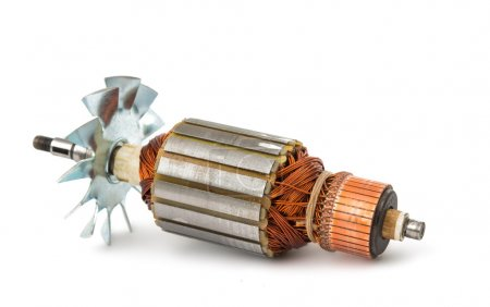 Electric motor rotor isolated