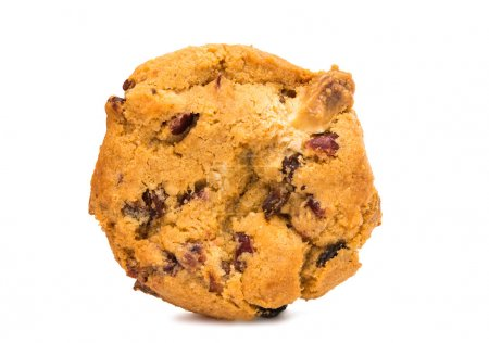 cookies with cranberries and chocolate isolated