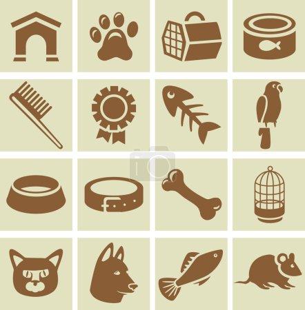 Vector design elements for veterinary