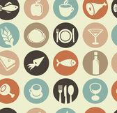 """Постер, картина, фотообои """"Шаблон с иконы ресторан и продовольствия"""""""