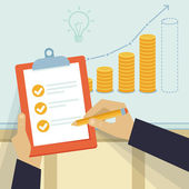 Vektor pénzügyi üzleti terv