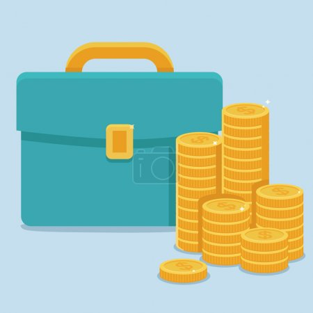 Vector business and finance concept in flat style