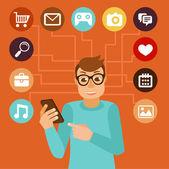 Social media addiction concept