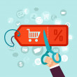 Vector discount and sale concept in flat style - o...