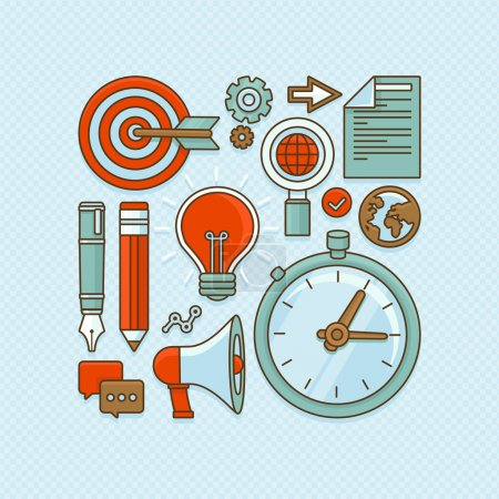 Vector creative buisness and start up icons