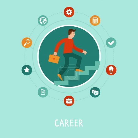 Vector career concept in flat style