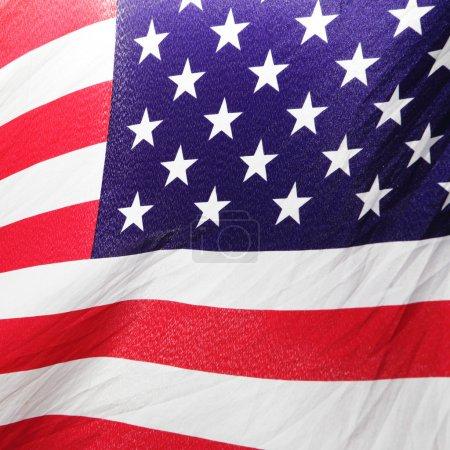 Photo pour Partie de close-up drapeau usa - image libre de droit