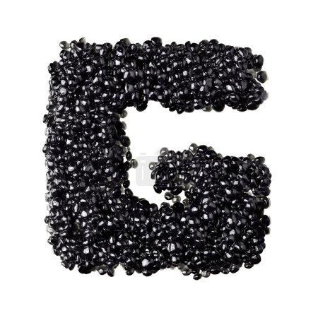Black caviar alphabet