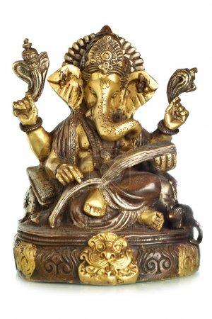 Photo pour Dieu hindou Ganesha isolé sur le fond blanc - image libre de droit
