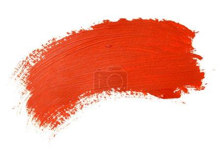Foto de Trazo de pincel rojo sobre el fondo blanco - Imagen libre de derechos