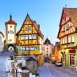 The most famous street in Rothenburg ob der Tauber...