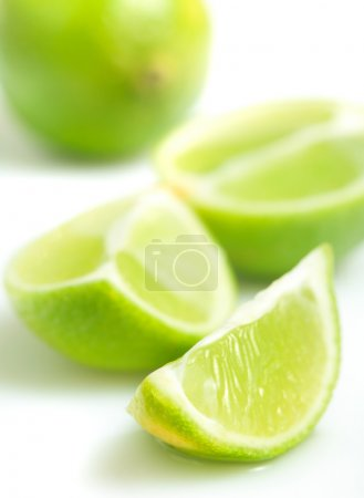 Pieces of green lime