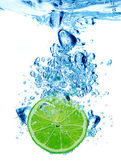 Lime in spray of water