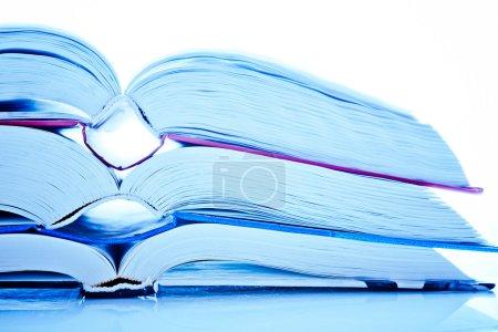 three open books