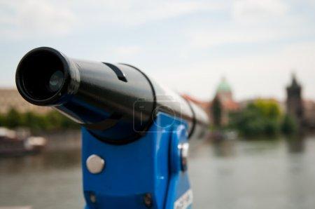 telescope overlooking for Prague