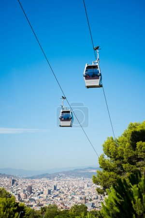 Cablecar over Barcelona, Spain