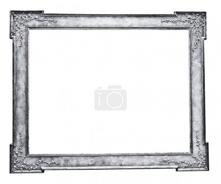 Photo pour Cadre vintage en argent, isolé sur blanc - image libre de droit