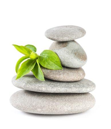 Photo pour Bilan des cailloux zen. Spa et concept de santé . - image libre de droit
