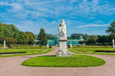 White statues in the Park of Kuskovo. Moscow. Russ...