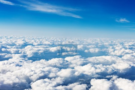 Photo for Clouds. view from the window of an airplane flying in the clouds - Royalty Free Image