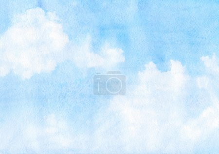 Photo for Watercolor clouds and sky background - Royalty Free Image